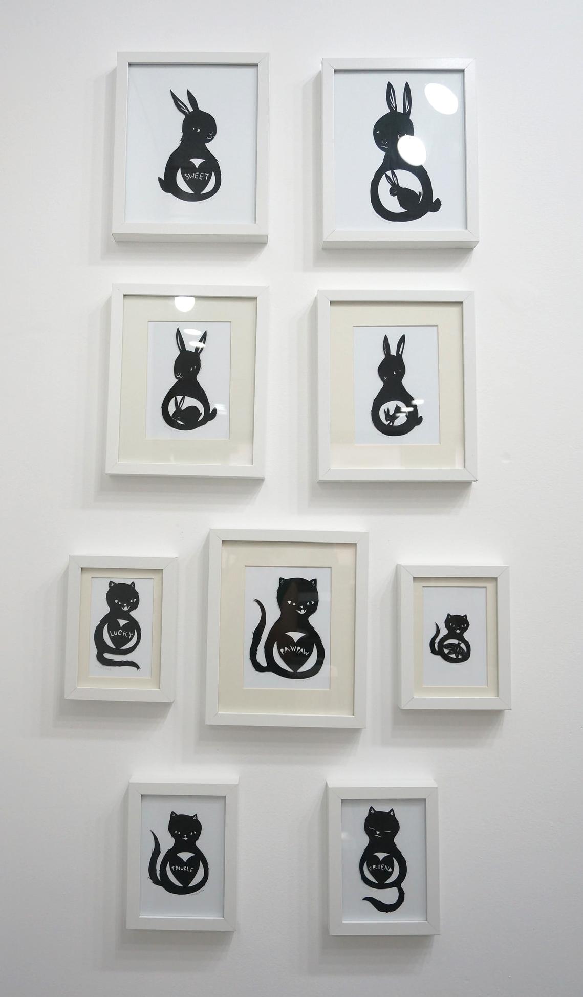 Hand Cut Paper Silhouette Animals