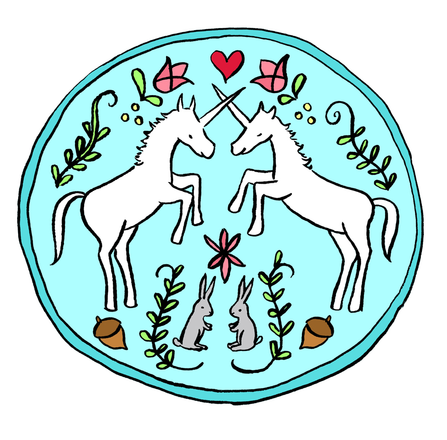 Unicorn Hex Symbol