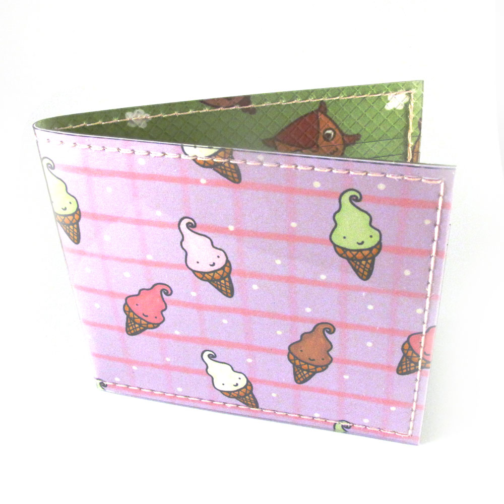 Ice Cream and Owls Wallet for Tiny Meat