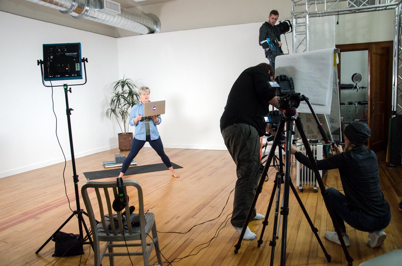 Yoga International using the Digital Media Lab.