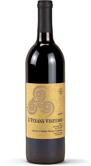 Malbec Wine from Texas Grapes at 3 Texans Winery