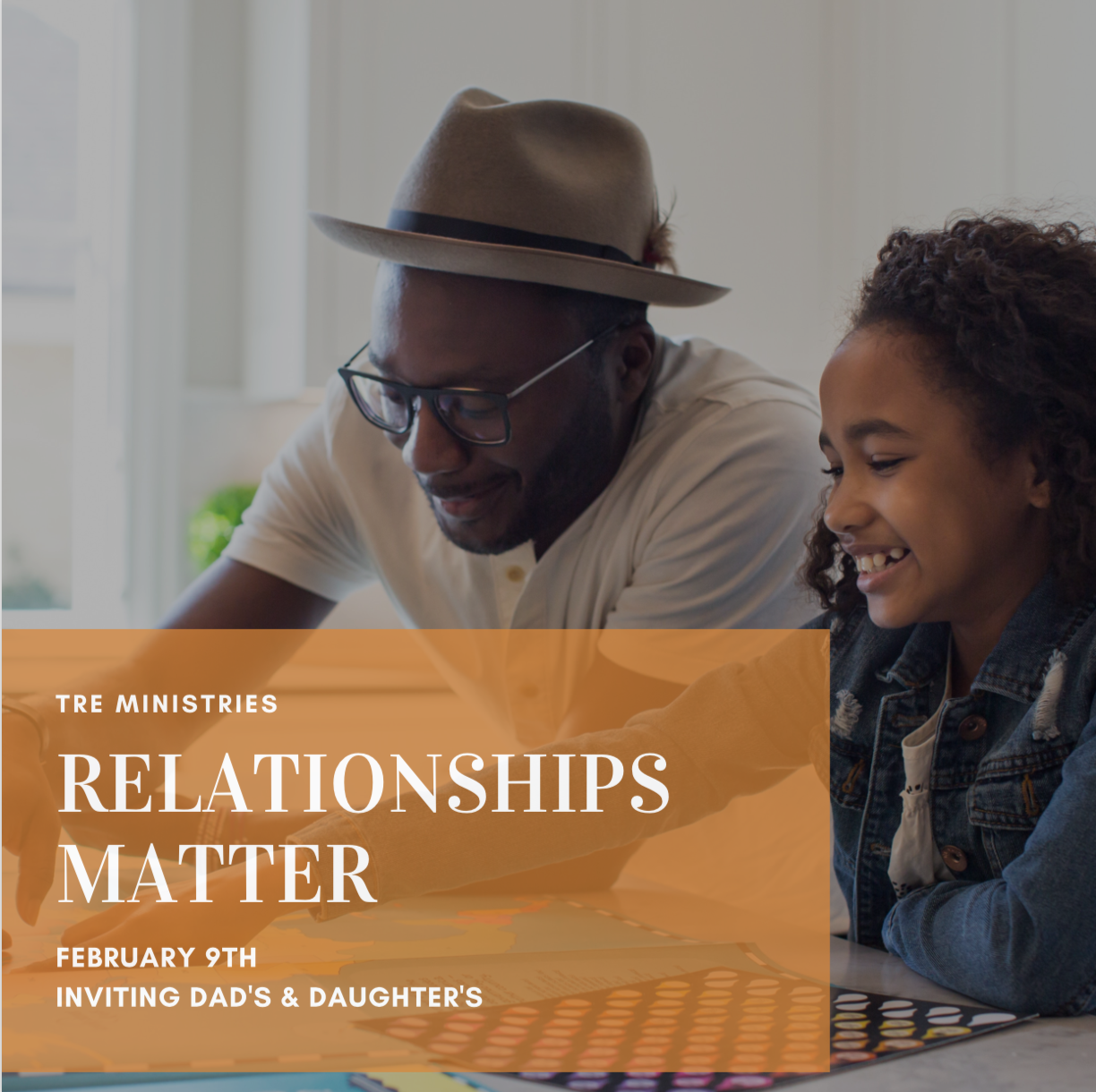 Sustaining healthy relationships is important to all of our lives. To enhance your relationships with those who matter most, we will be hosting 'Relationships Matter' once a month.  Our first Relationships Matter event will be held on February 9th from 10am-12pm. We are welcoming in Dads and Daughters to an open space where you can spend time investing in your relationship. The hot chocolate and topic questions will be provided. Spend the morning investing in creating a deeper, more impactful relationship with those who matter most.  All ages welcome!