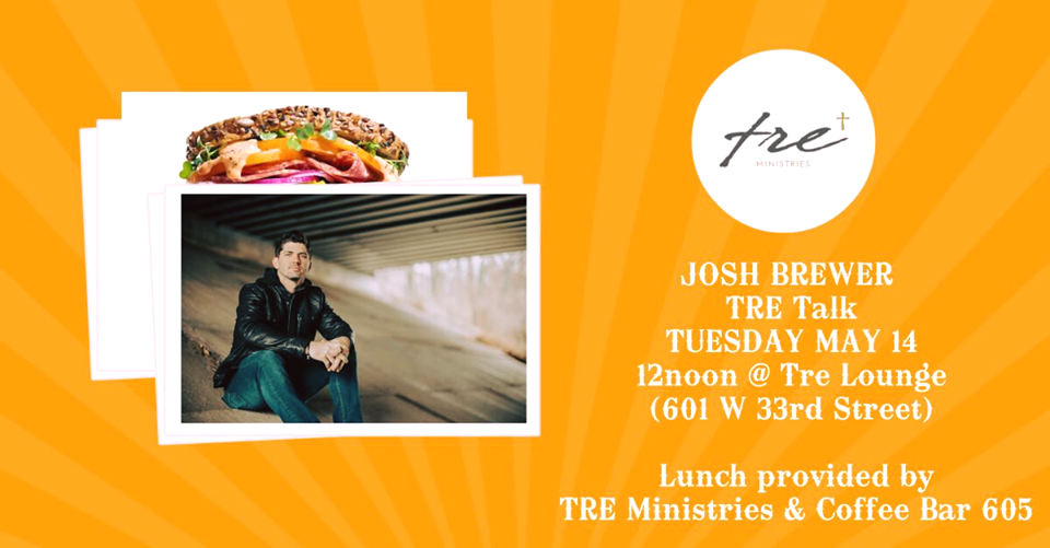 Tre Talk with Lifelight Josh Brewer - Tuesday May 14th at 12pm, @joshjbrewer from LifeLight will be speaking at @treministries for Tre Talk! This event will include a free lunch sponsored by tre Ministries, an RSVP is encourage. Come check it out!
