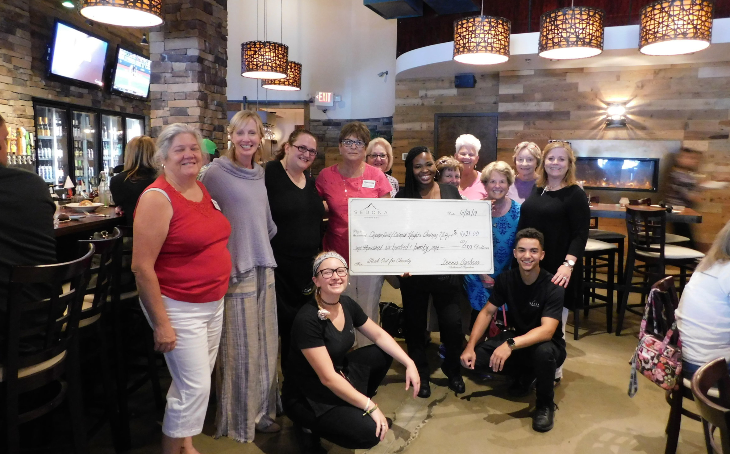 Sedona Steakhouse presenting their donation!