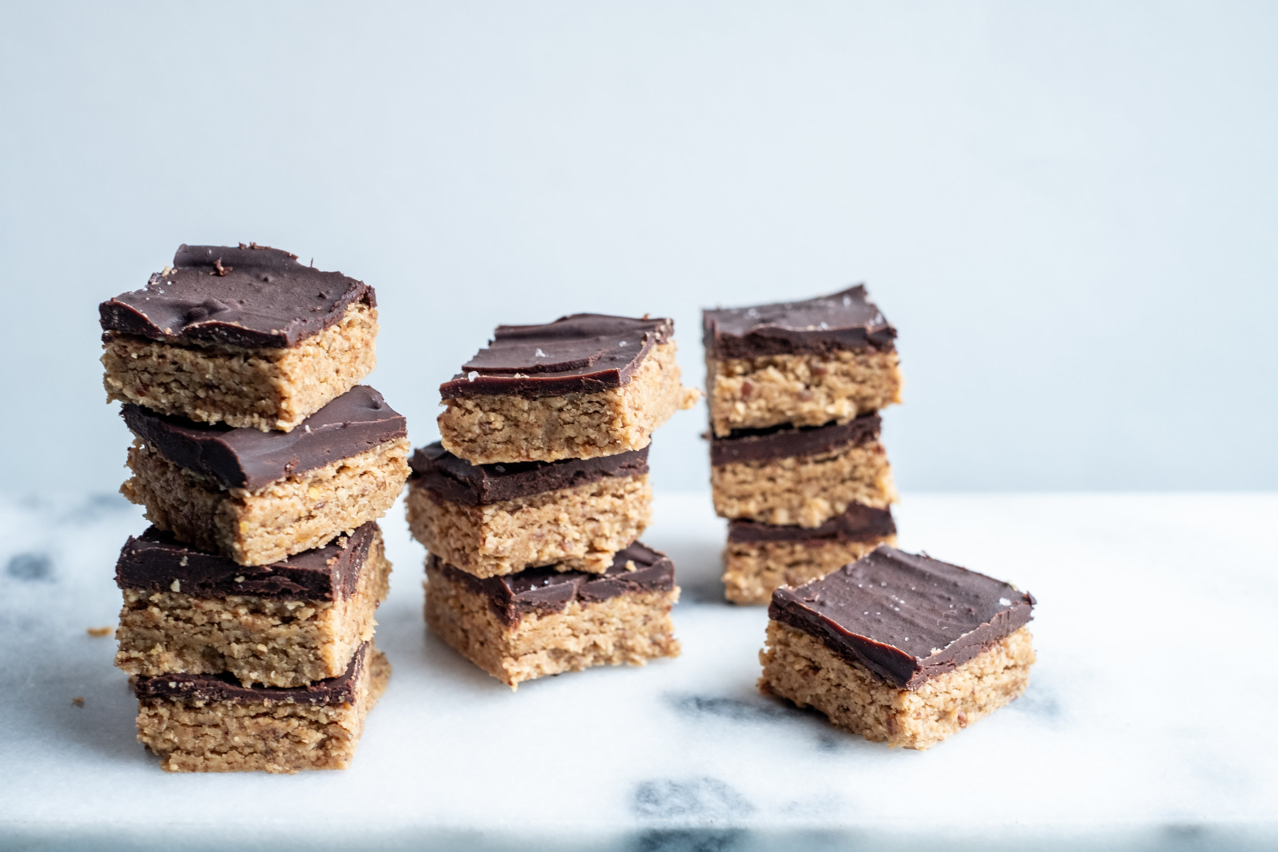chocolate peanut butter squares, vegan