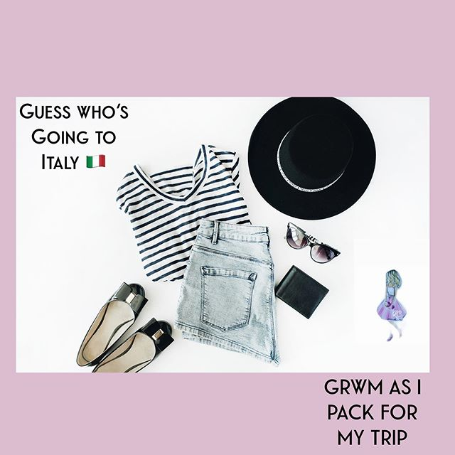 Hey there dolls! My trip is quickly approaching and like most of us ladies, shopping has been a major point of preparation. Get ready with me as I pack for Italy 🇮🇹.