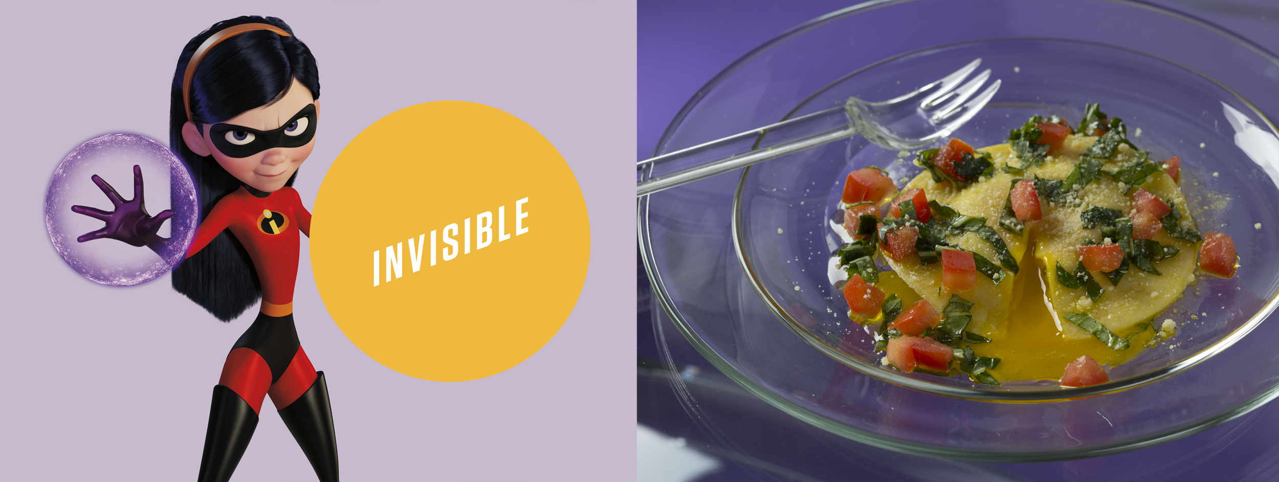 Violet's Invisible Egg Ravioli