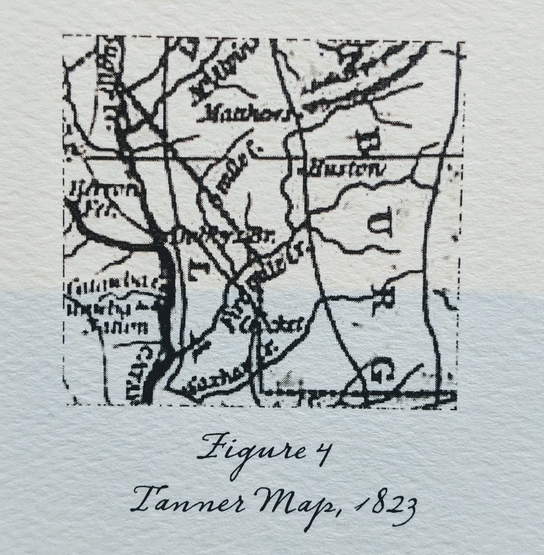 Twenty-five years later, - The 1823 Tanner map (Figure 4, Right) gives evidence that stream names can change, for Tanner calls 12 Mile Creek