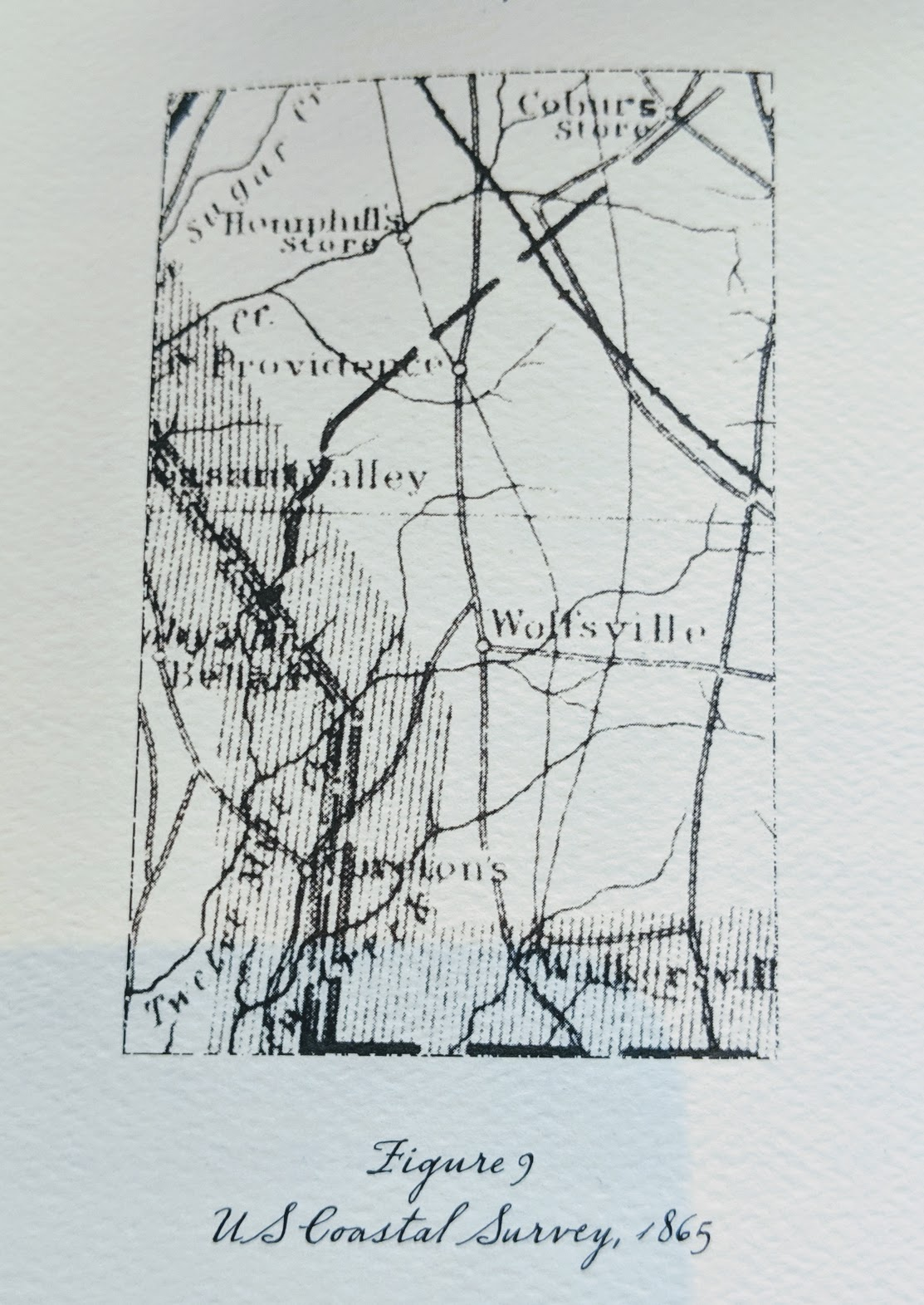 but not through… - Providence while the US Coastal Survey map (Figure 9, Right), drawn at the end of the conflict, shows a transition to the modern road lines. Providence Road passes over