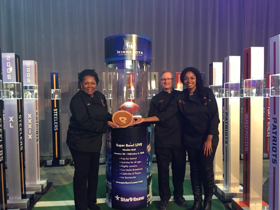 SuperBowl LII - Super Bowl LII in Minneapolis and yes Sweet Potato Comfort Pies were in the house proudly being served during the Andrew Zimmern SuperBowl Host Committee Tailgate party!