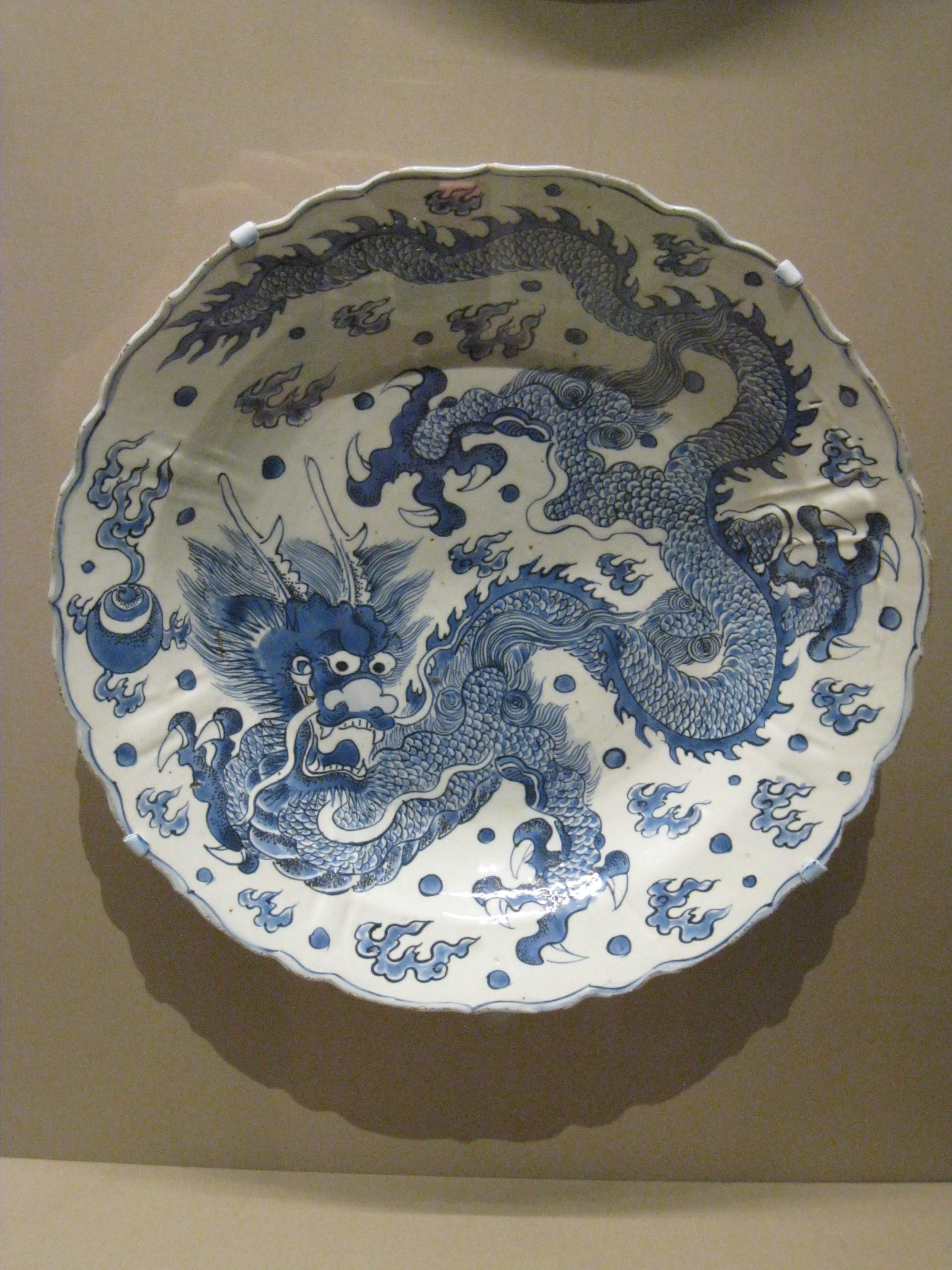 Dish with Dragon, made in China early 1600's