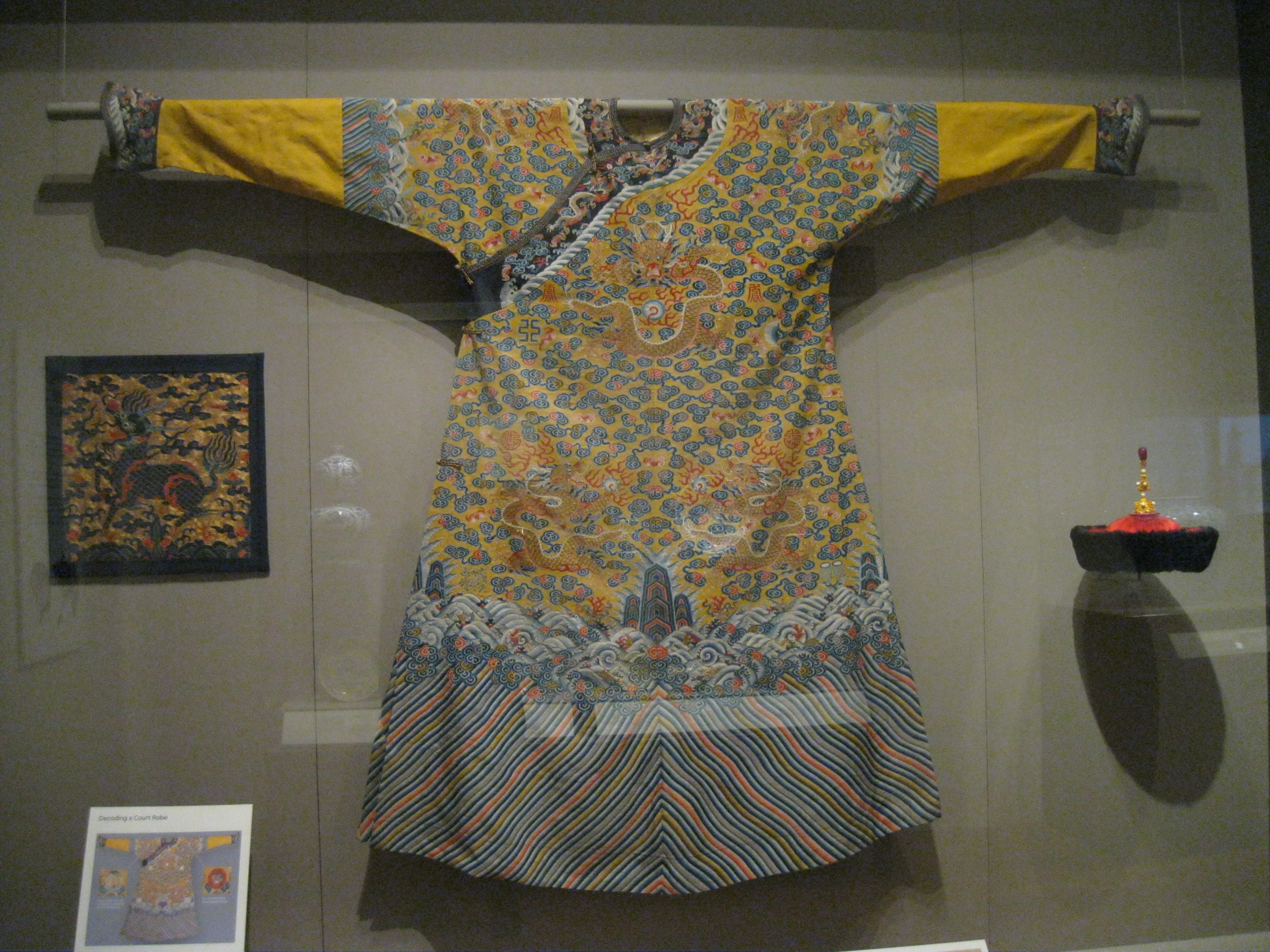 Court robe laden with symbols