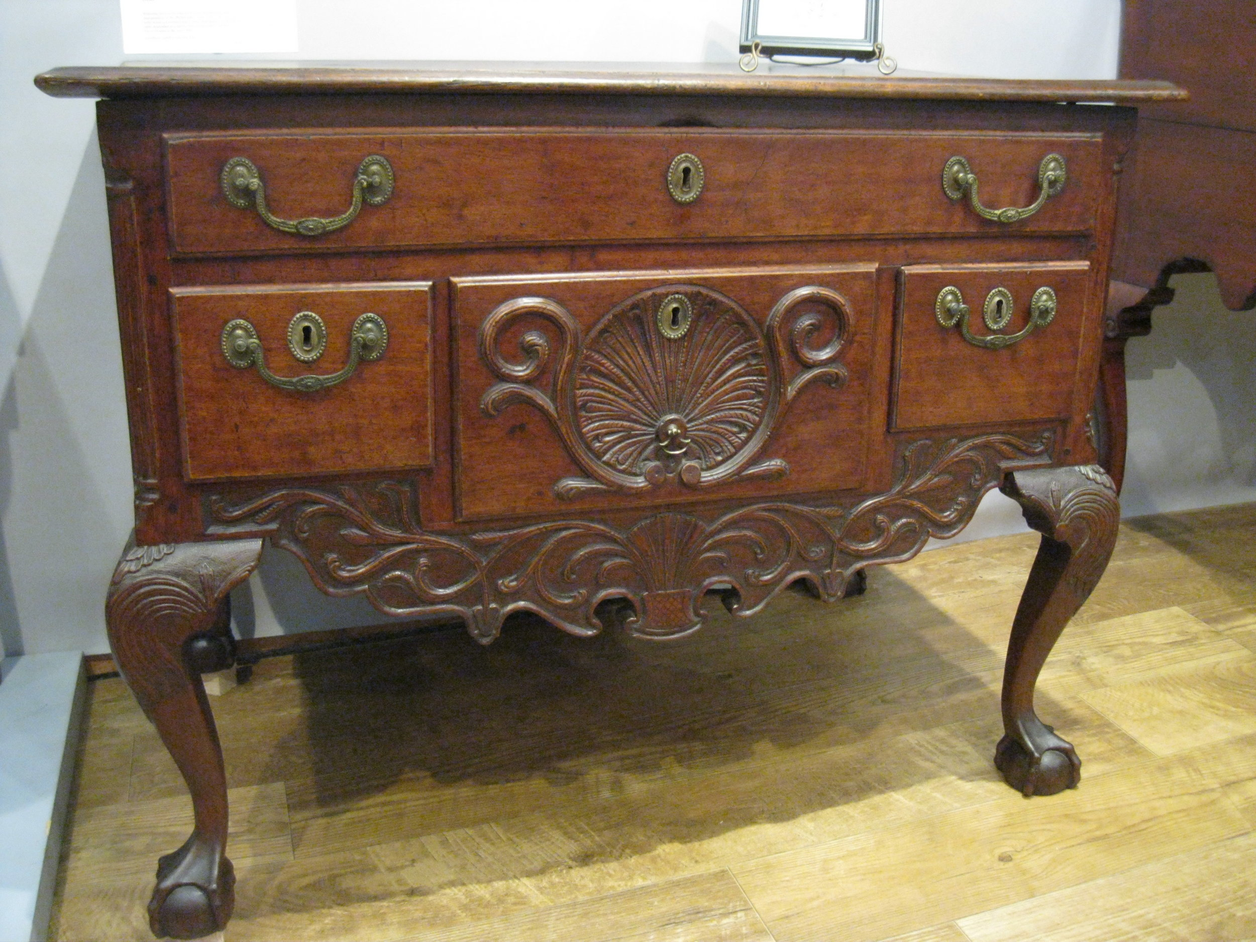 Fascinating German dressing table, made in Lancaster, PA using Philadelphia practices, the booth of Philip Bradley