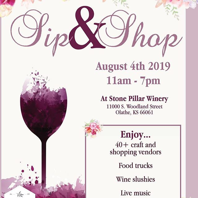 I'm so excited to announce that I'll be at this little soirée on August 4th! If you're local to the Kansas City area, come see me at my favorite local @stonepillarwinery and see some of my newest items for fall and the holiday season!