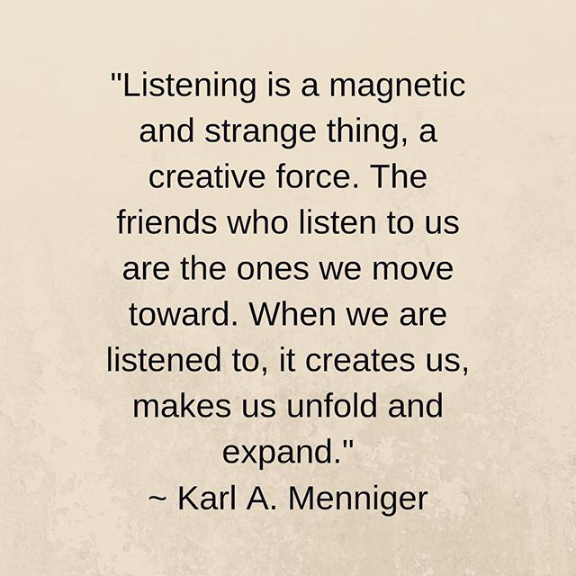 #listening #oneness