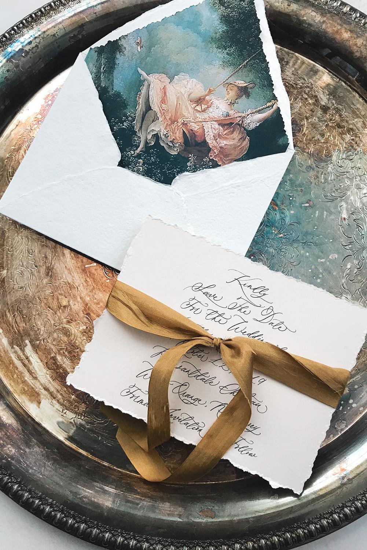 nj-calligrapher-custom-save-the-dates-handwritten-calligraphy-wedding-invitations-leslie-&-paper-french-painting-envelope-liner-handmade-paper-silk-ribbon.jpg
