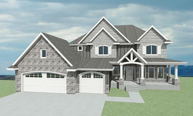 Who loves steep roof pitches? Check out the newest home currently being built by Harvey Custom Homes.