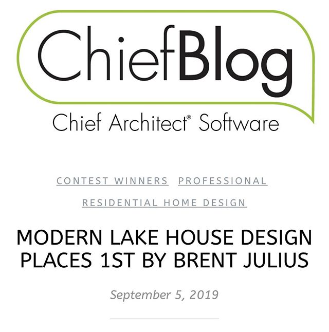 I was honored to be chosen as Chief Architect's #1 design. Check out the blog below to see why they are my choice when creating plans and drafting for clients.  https://chiefarchitectblog.com/2019/09/05/brent-julius/