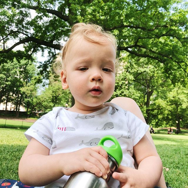 Sweet Toby - our affectionate, generally even-keeled, joyful boy. He loves to scream with happiness, climb mama and dada like playgrounds and swing all day, every day. We can't imagine life without him 😍