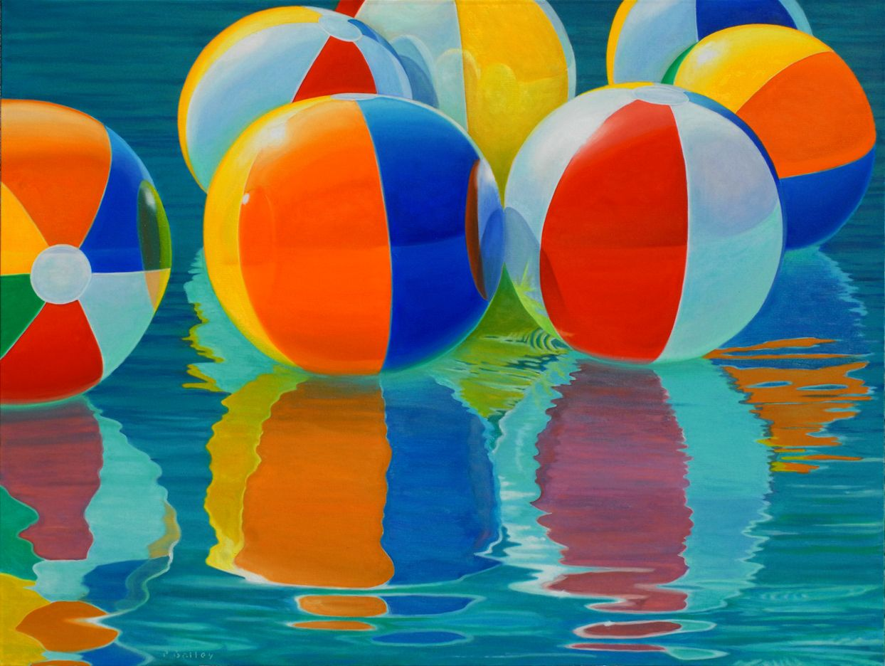 Beach Balls #9, 36x48
