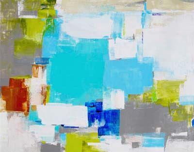 Patchwork Blue, 48x60