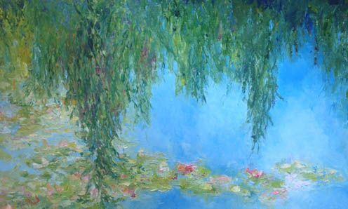 Monet's Loving Presence, 30x48