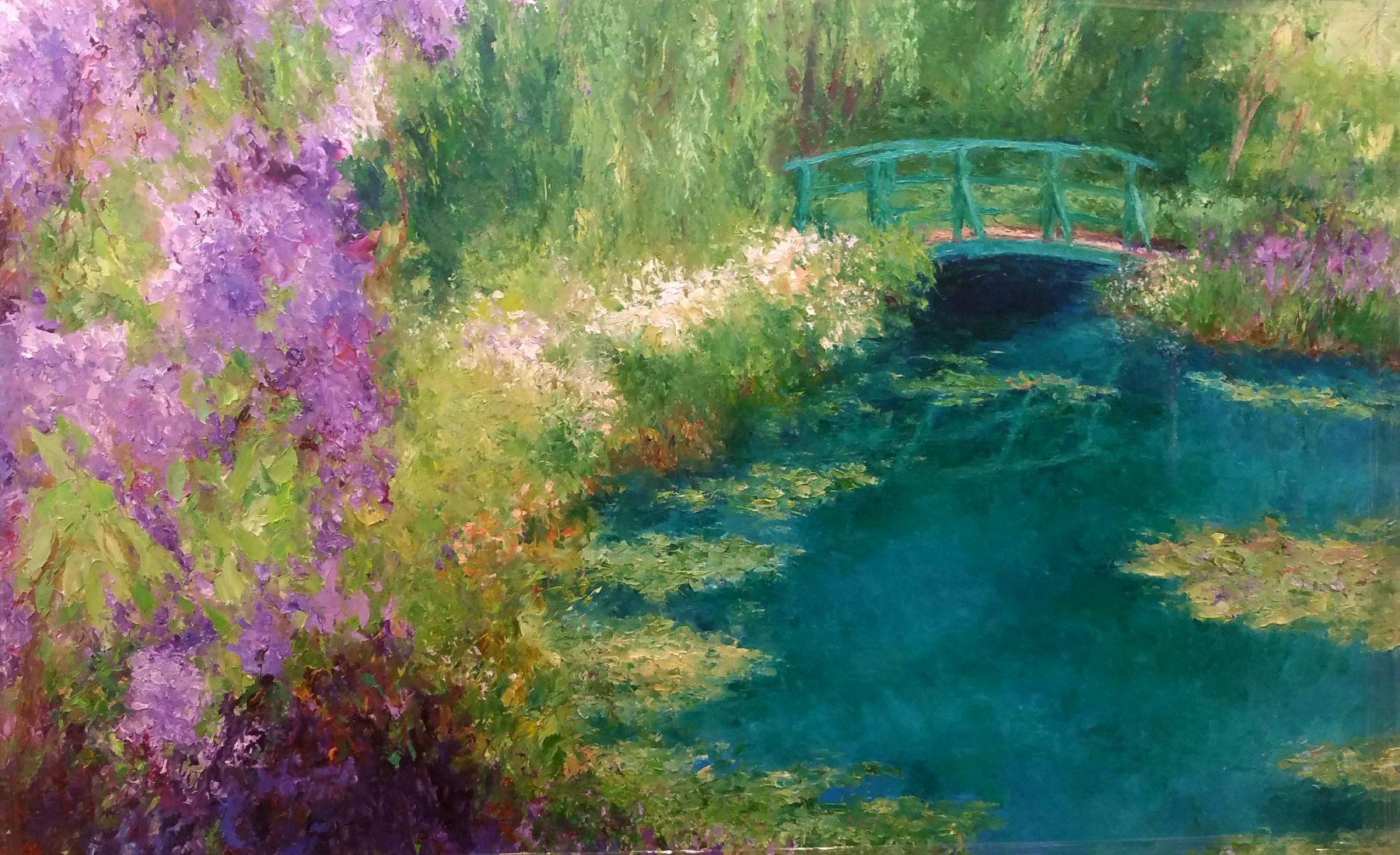 Monet's Ruffled Repose, 48x72