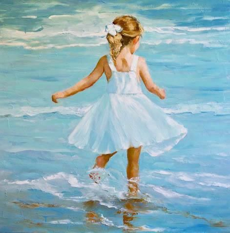 Beach Dancer, 36x36