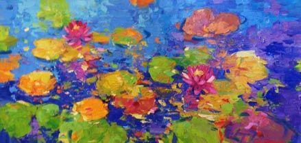 Courtyard Lotus, 24x48
