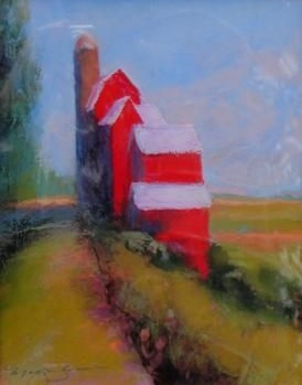 Cherry Red Barn, 11x14