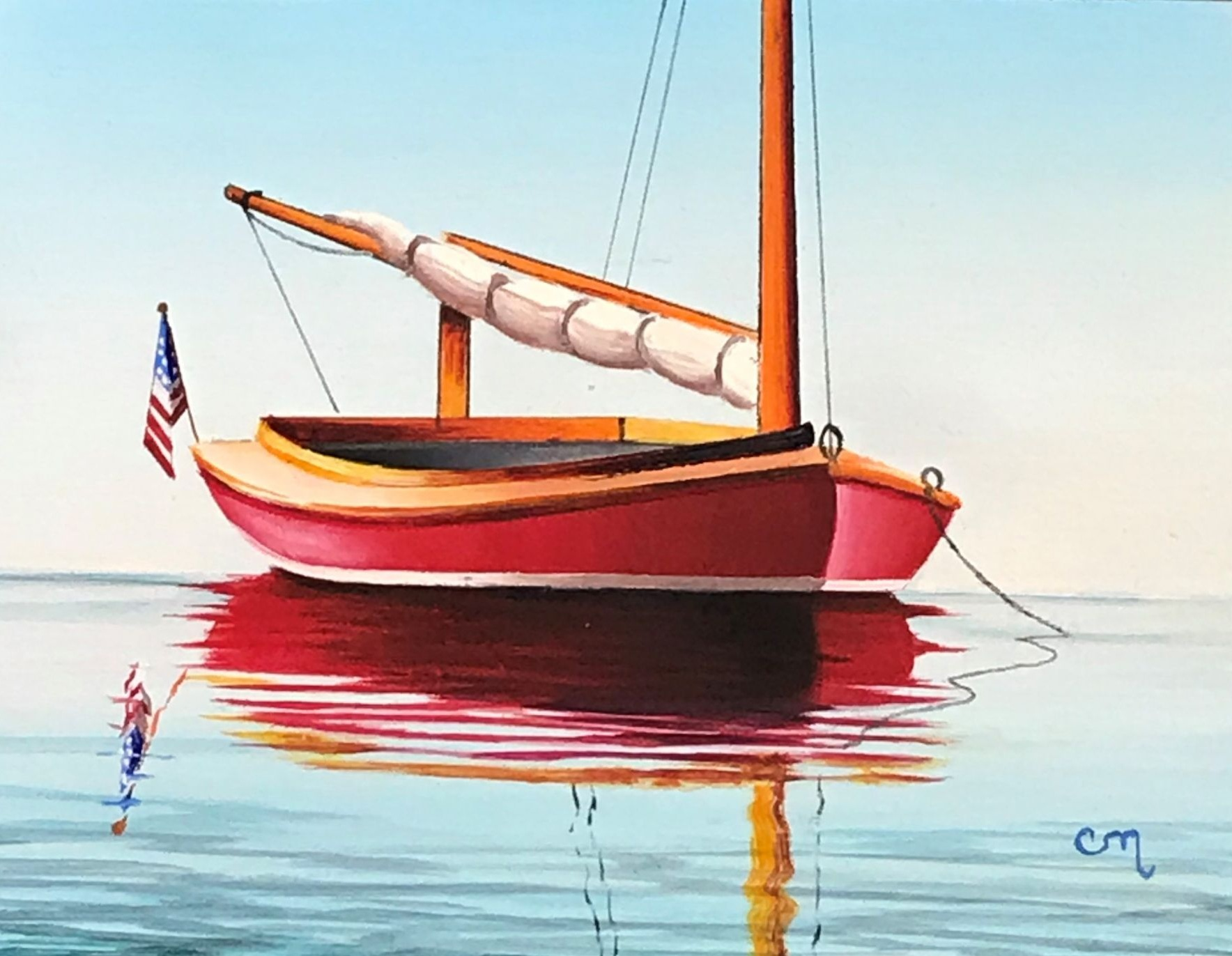 Red Catboat, 4x5
