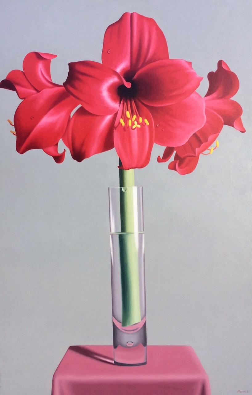 Red Lilies, 36x20
