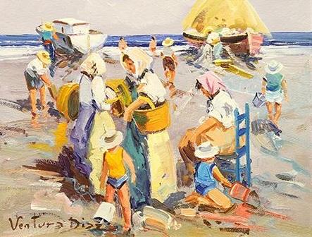Beach Day, 9x11