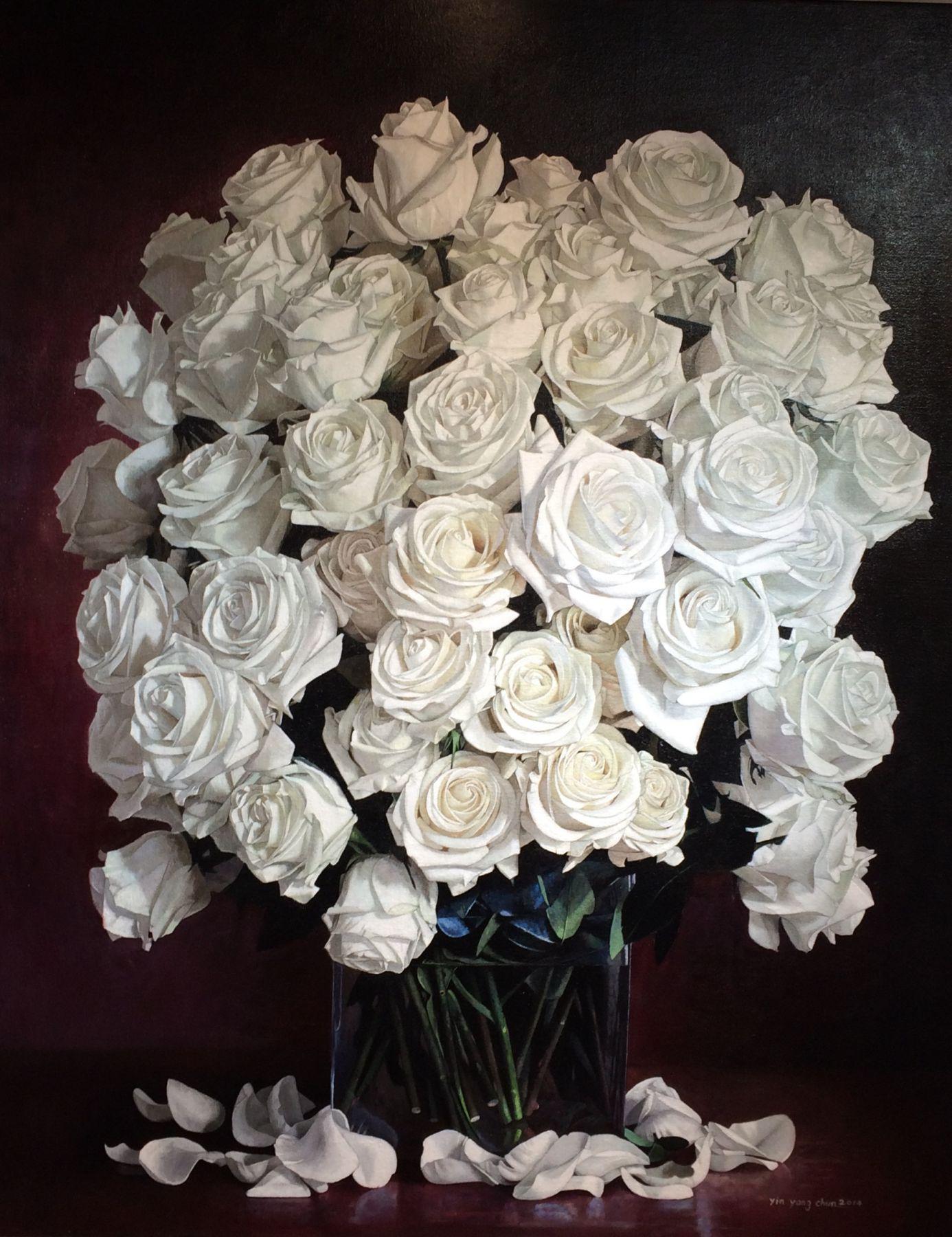 White Roses, 60x48