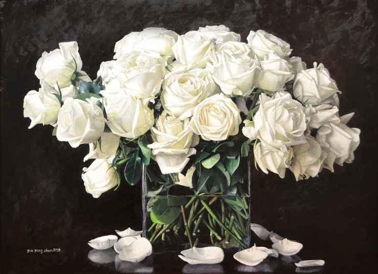 White Roses, 32x43