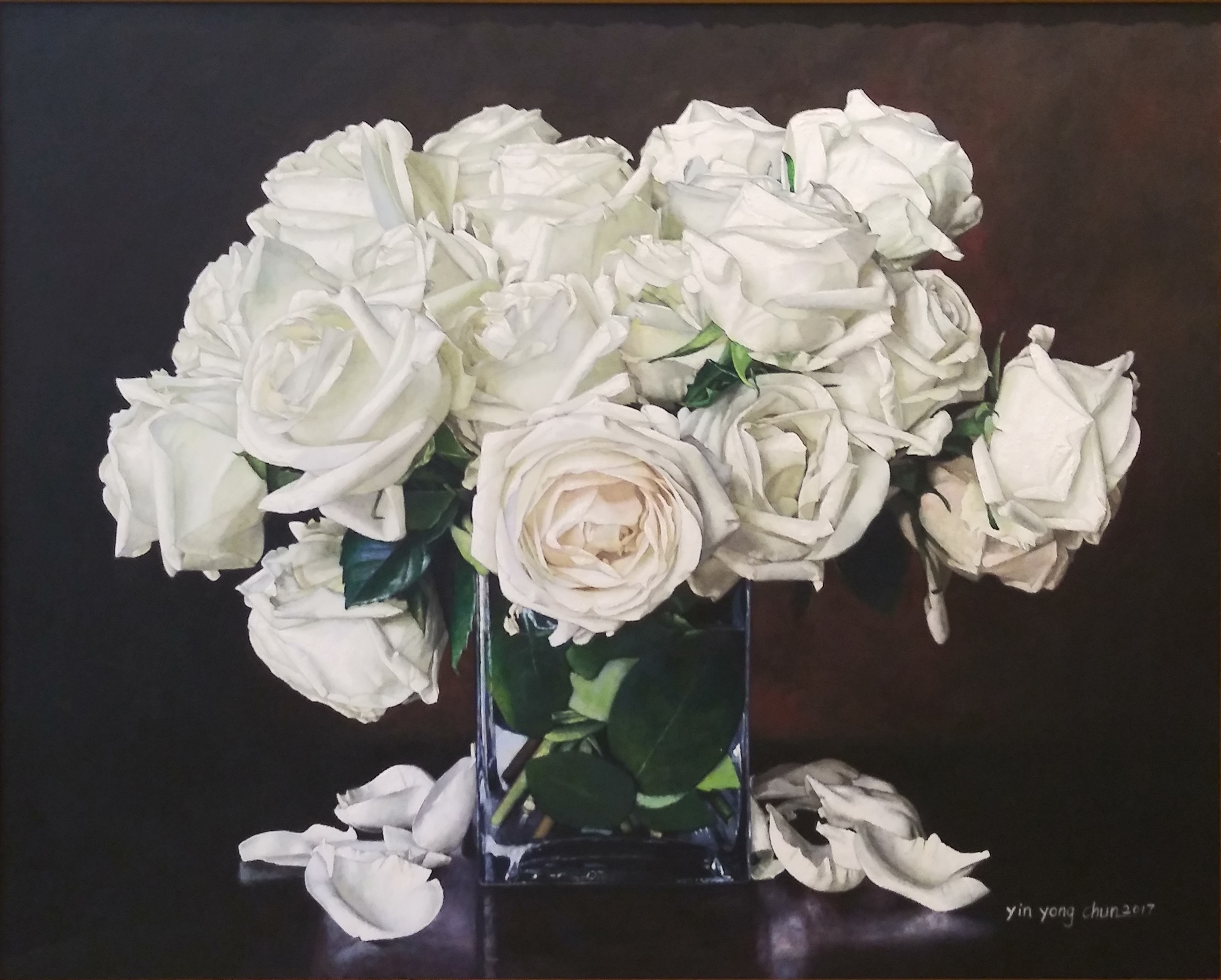 White Roses, 24x30
