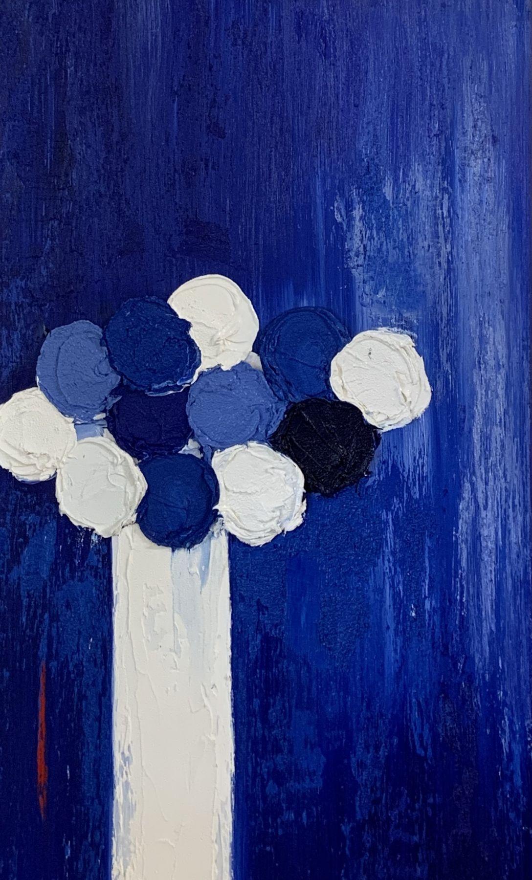 Blue Boquet, 39x20