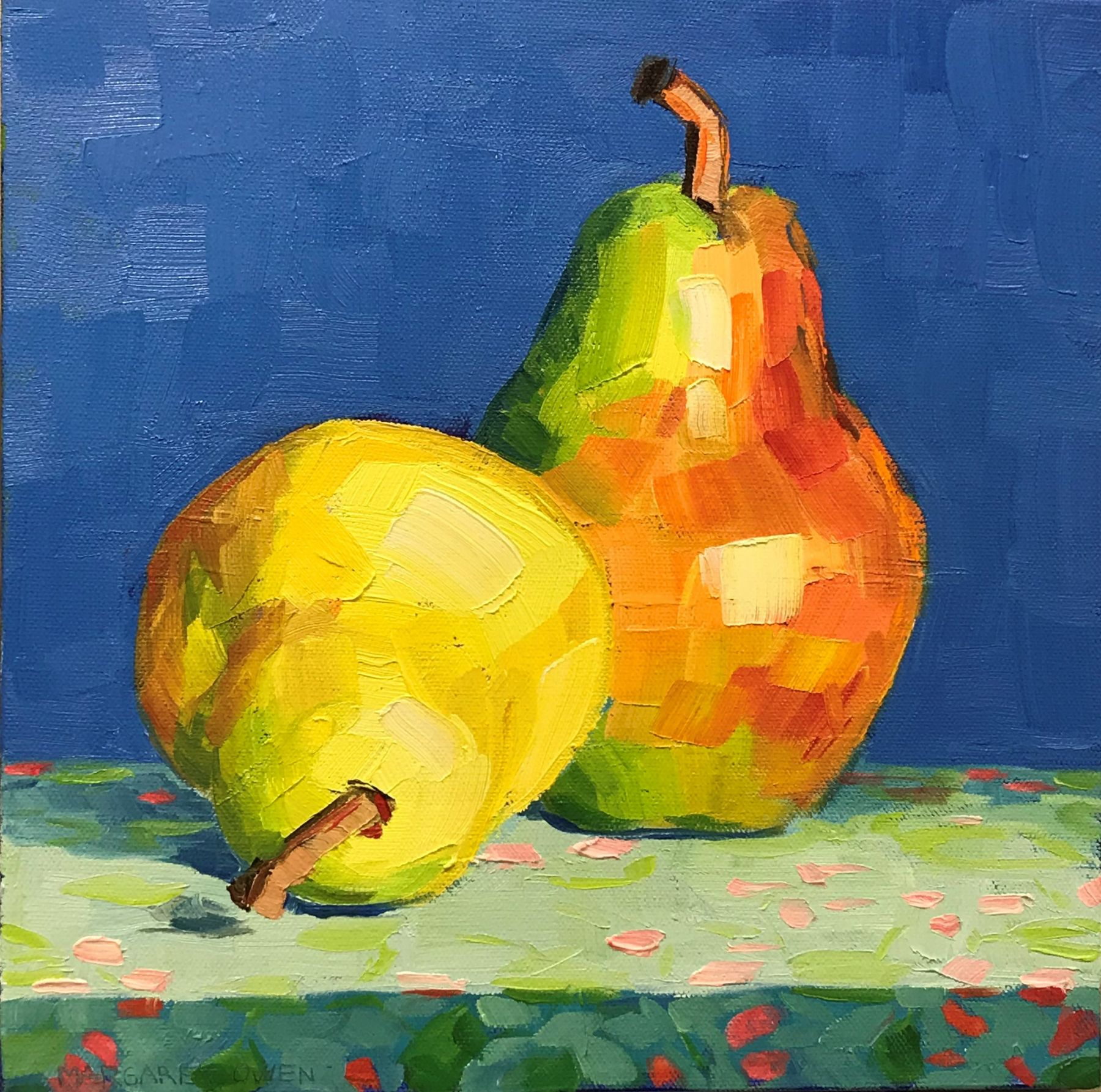 Two Yellow Pears, 12x12