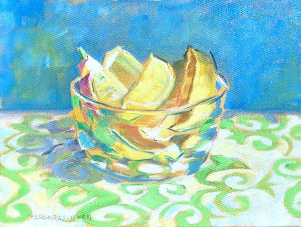 Lemons in a Glass, 9x12