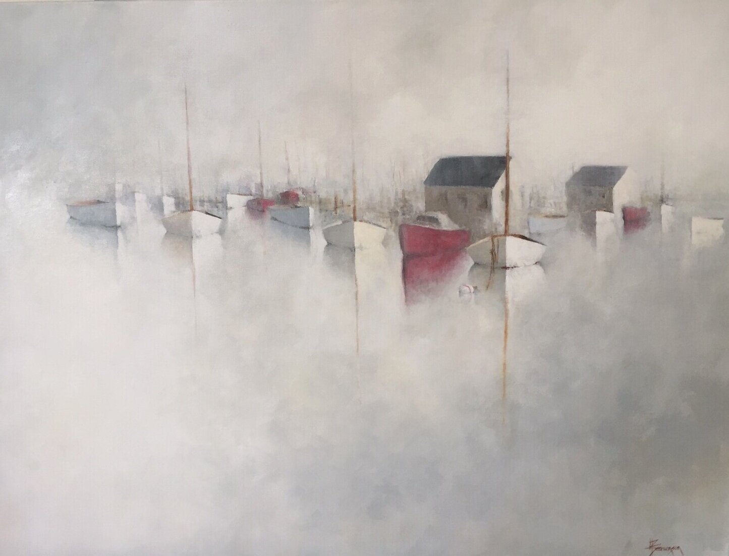 Silver Stillness, 40x30