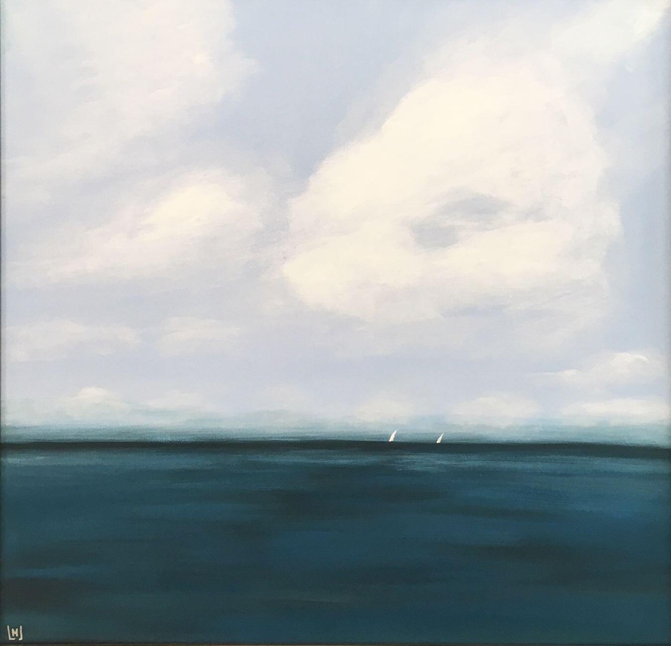 Serene Sail, 24x24