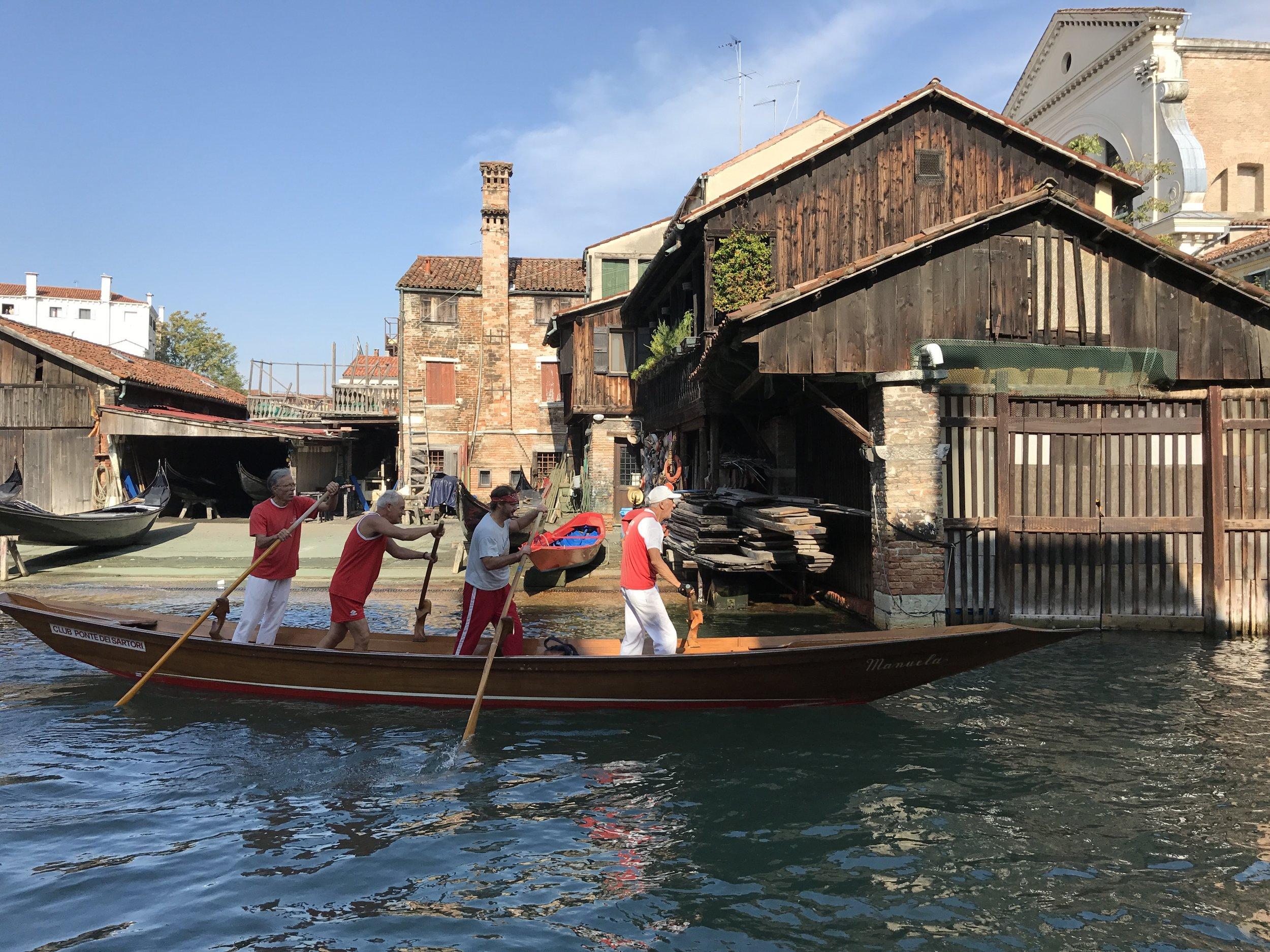 Venice Gondola Rowers by Kira Cook.JPG