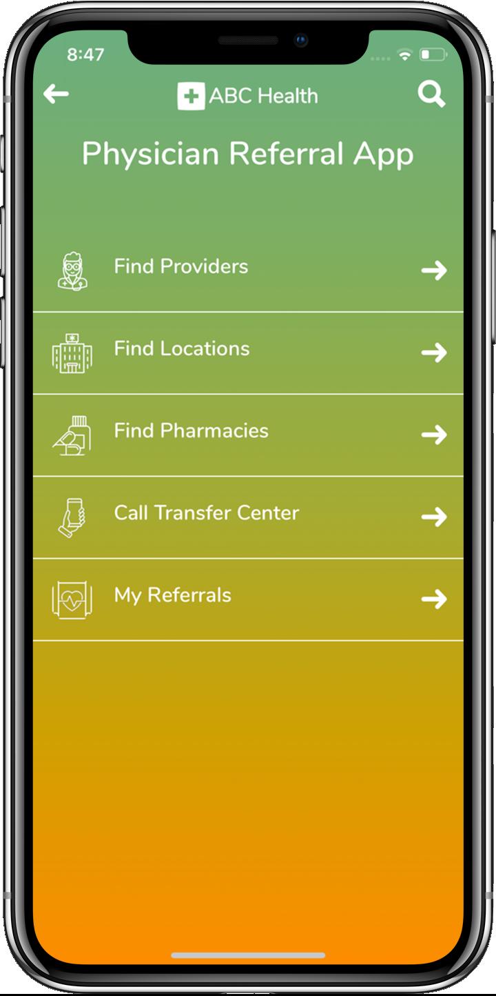 Referral Module Provider App View