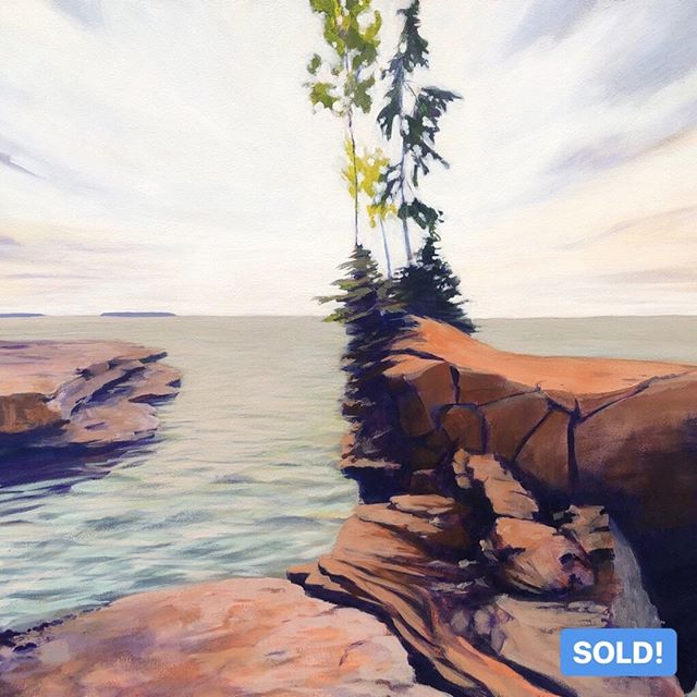 "Woohoo! This painting has officially SOLD! I really love and appreciate all the support my friends!⁠ ⁠ SANDSTONE ROCKS, 22 x 30"", Acrylic on Panel, ©2017 Jim Musil 🎨  Original: SOLD 🎨⁠ 😉⁠ #art #artist #originalpainting #artwork #greatlakes #northwoods #seascape #skyscape #fineart #skylove #lakesuperior⁠ .⁠ .⁠ .⁠ .⁠ #workingartist #galleryart #contemporarypainting #contemporaryartist #artcollecting #artfind #artforsalebyartist #acrylicpainting #artforsale #artcollector #artgallery #contemporaryart ⁠"