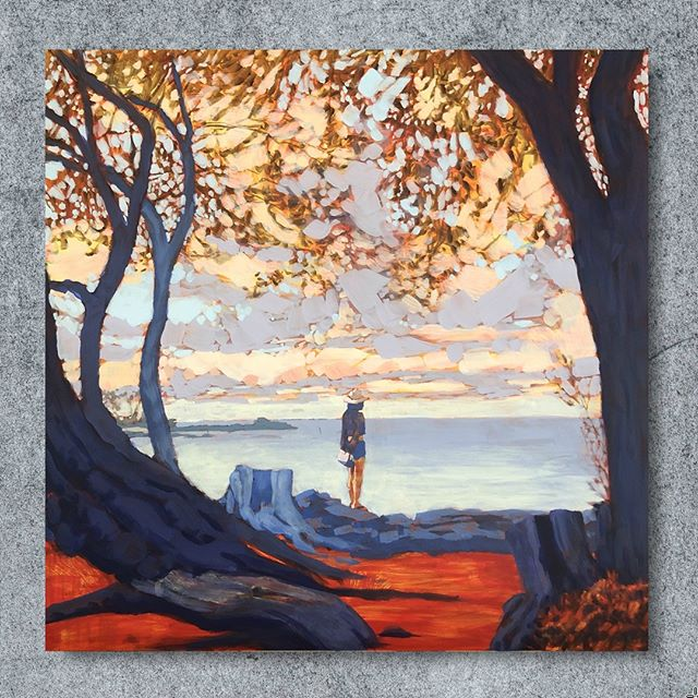 "I'm off on a biking and camping trip to the beautiful north shore of Lake Superior, so here's a popular painting from my studio that is still looking for a home.⁠ ⁠ MORNING VIEW, Acrylic on Panel, 16 x 16"", ©️2019 Jim Musil 🎨 Original: $700 🎨⁠ ❤️⁠ #art #artist #painting #artworks #skylove #oceanpainting #seascape #bigisland #skyscape #oceanview #serene #calm⁠ .⁠ .⁠ .⁠ .⁠ .⁠ #galleryart #contemporarypainting #contemporaryartist #artcollection #studioscenes #artaddict #landscapepainting #abstractlandscape #artforsalebyartist #impressionism #artistsofinstagram #acrylicpainting  #artistlife #artcurator #artcollector #artgallery #artsy #contemporaryart ⁠"