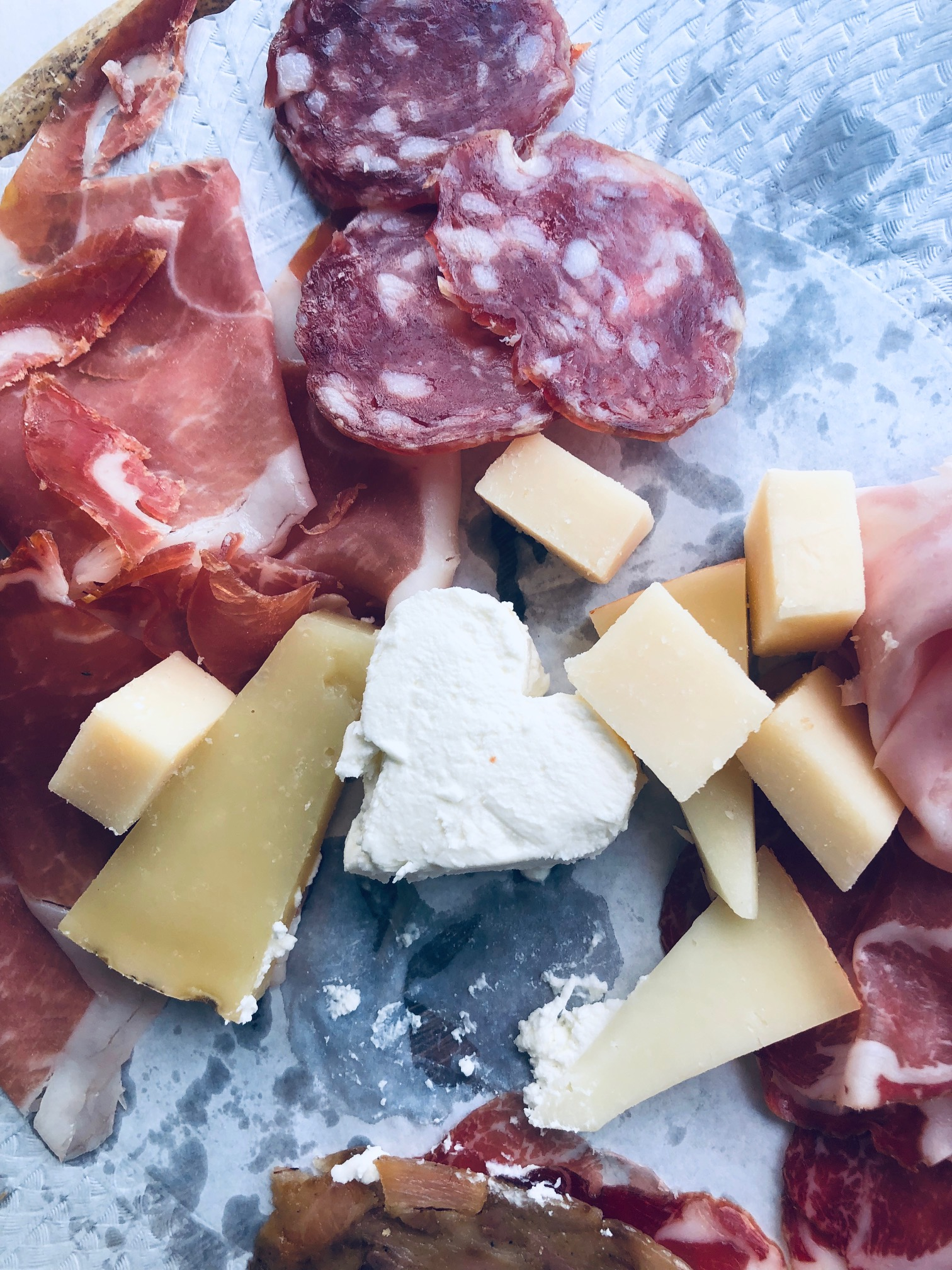 high qualify cheese and ham in Bologna