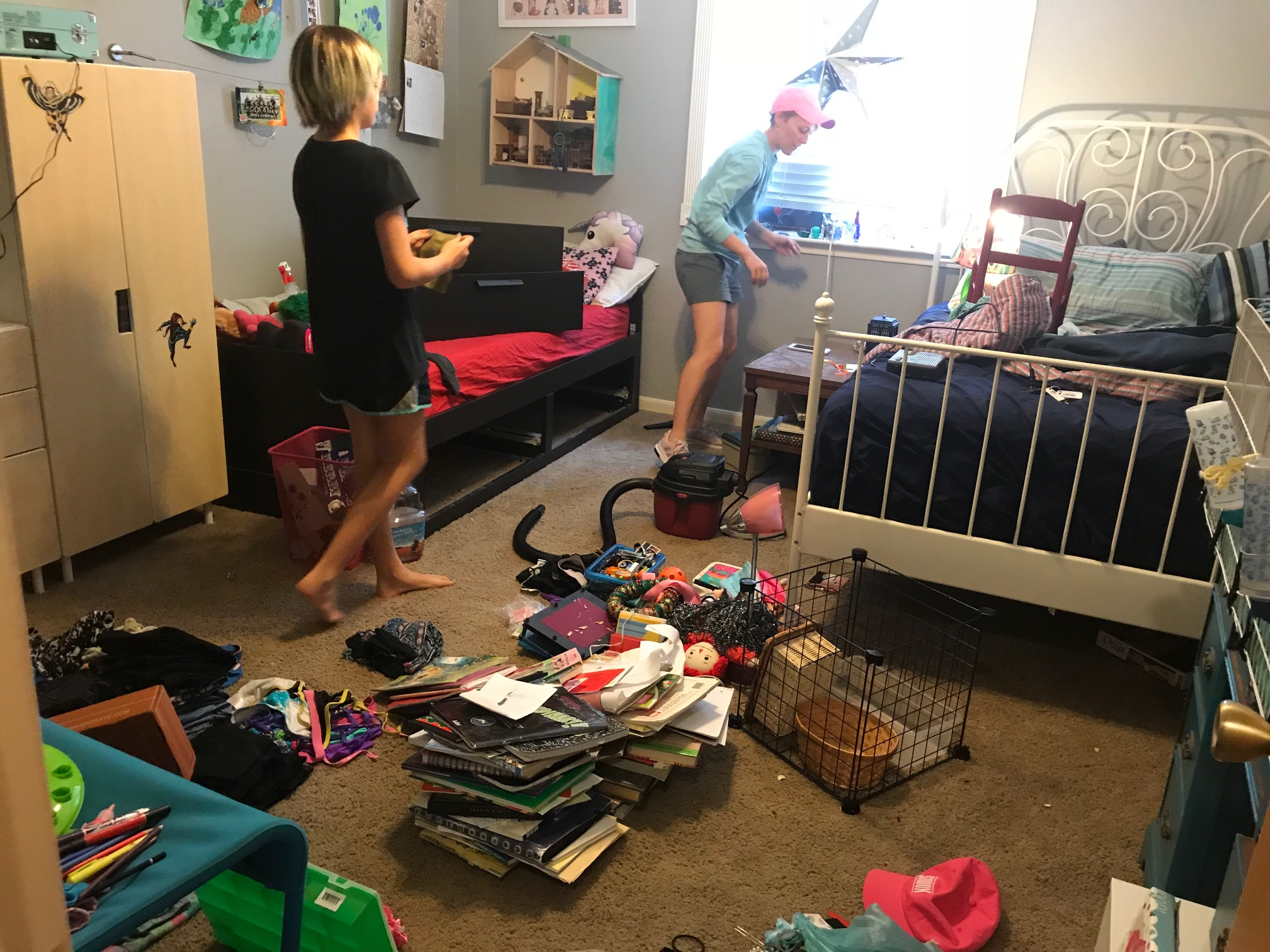 BEFORE - Alaurie (11) wanted to make a great first impression for the foreign exchange student that would be sharing her room the following week.