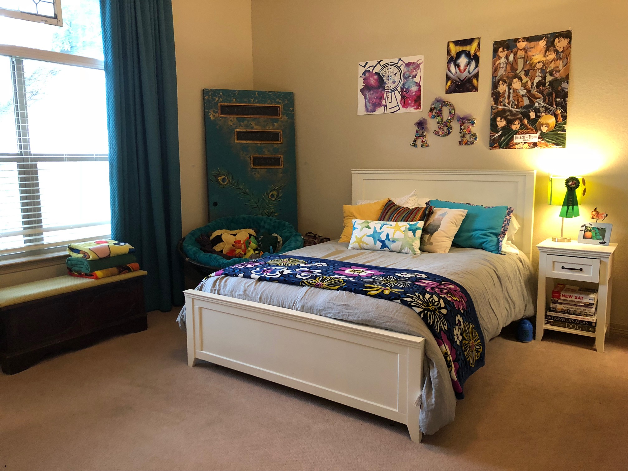 AFTER - One long Saturday later and we didn't want to leave this stunning bedroom. Her favorite part was having all her art supplies in one place!