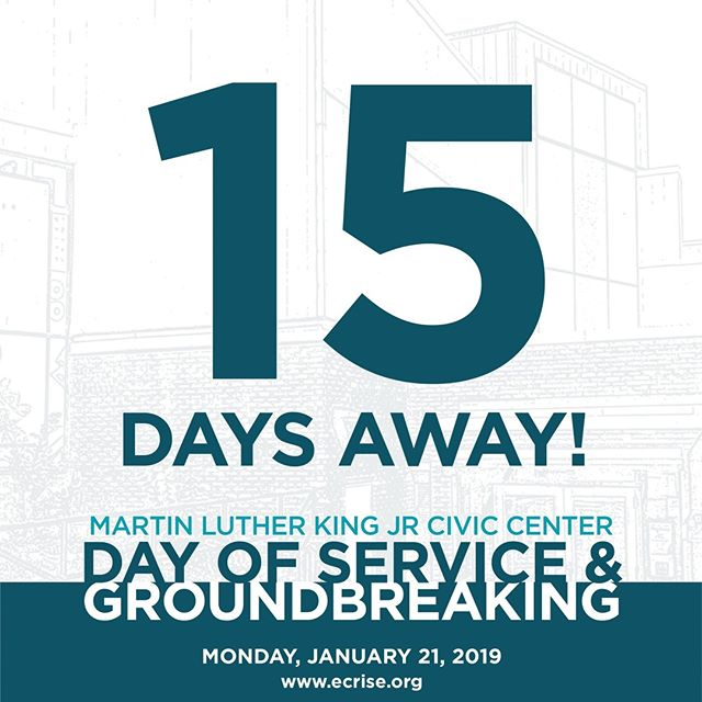 We are only 15 days away from the launch of our renovation of the MLK Civic Center! Are you excited? We surely are! 🤗🤗 #TheCiv #MLKCivicCenterRenovationProject