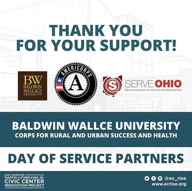 THANK YOU to the Baldwin Wallace University AmeriCorps members! If you'd like to join them in investing in East Cleveland's youth, sign up to  volunteer for our MLK Day of Service at http://ecrise.org/serve #ecrise #mlkciv